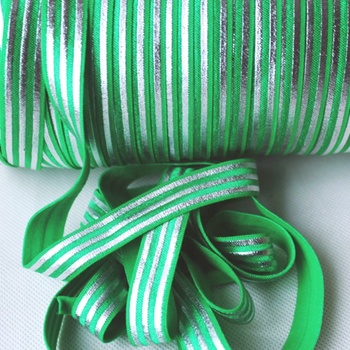 Wholesale 16mm softness velvet ribbon single face silver stripe velvet ribbon