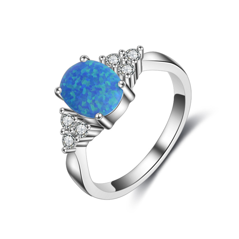 Hot Selling Fashion Jewelry 925 sterling silver ring Opal Ring