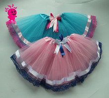 Wholesale tutu skirt for girls, Campus wind Lace Tutu Skirt ballet tutu with bow