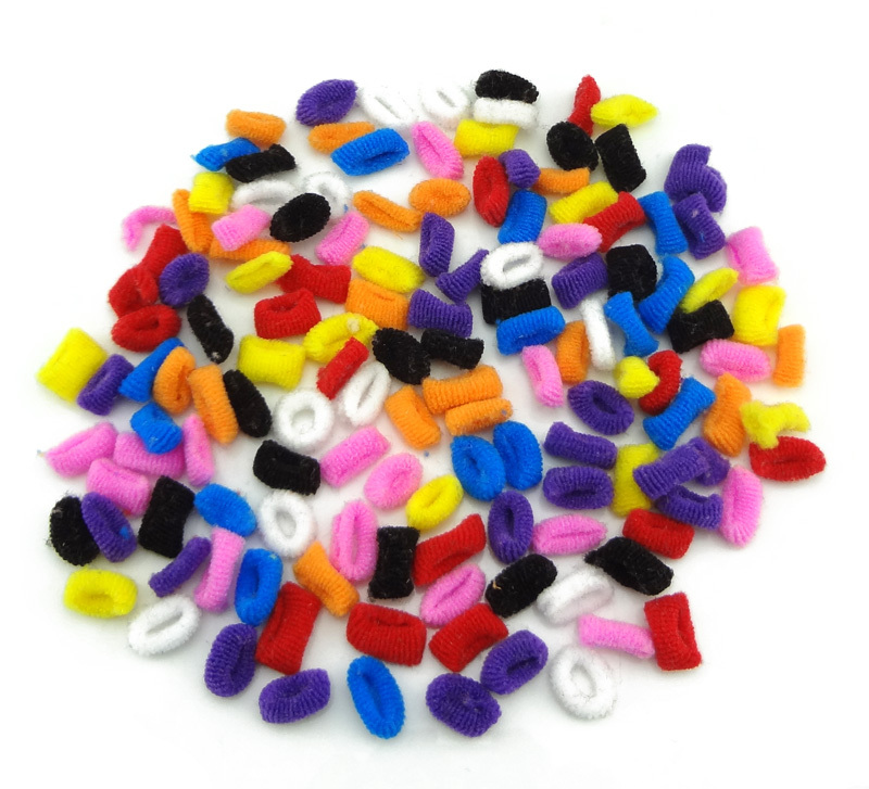 100pcs lot Colorful Child Kids Hair Holders Cute Rubber Bands Hair Elastics Accessories Girl Women Charms