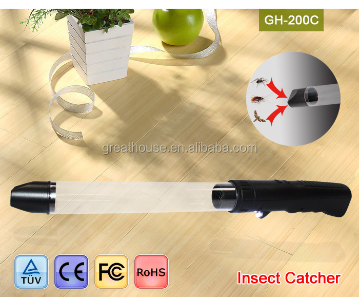 GH-200C USB Recharger Bug Sucker Bug Vacuum Spider insect Catcher