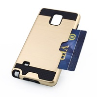 Smartphone case 2 in 1 card pocket covering for samsung galaxy note 4