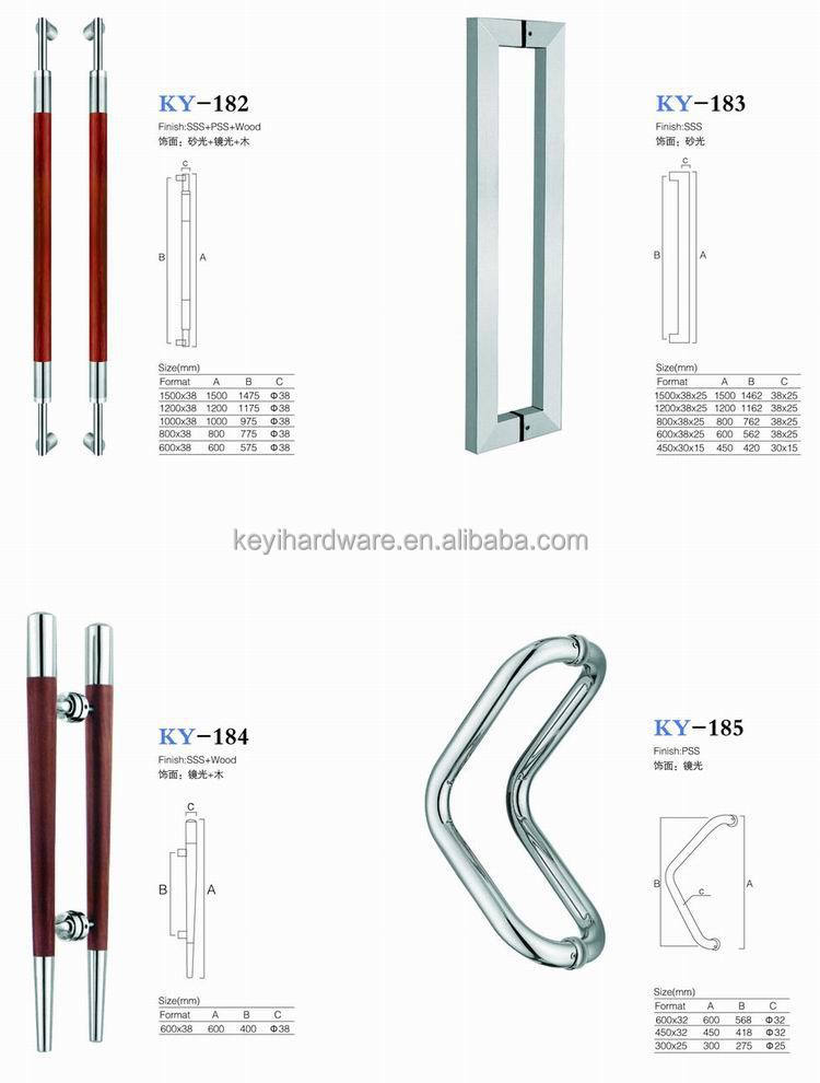 Single Sided Exterior Glass Door Pull Handles From China Supplier ...