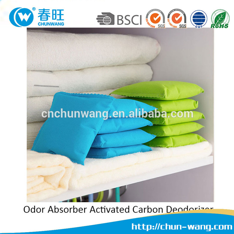 Natural Auto Air Purifying Bamboo Charcoal Bags Reusable and Non Toxic for Shoes