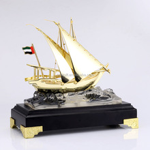 Hot Selling <span class=keywords><strong>Metalen</strong></span> Decoratie Ambachten <span class=keywords><strong>Metalen</strong></span> Boot Schip Model Cadeaus voor dubai