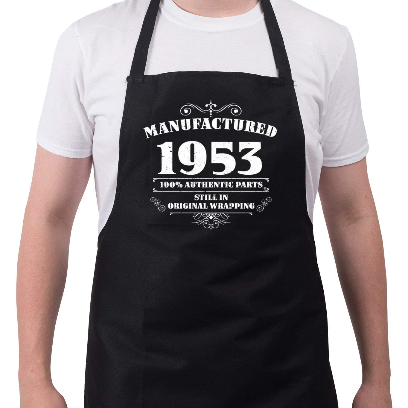 Get Quotations Mens 65th Birthday Gift Apron Manufactured 1953 Aprons Gifts