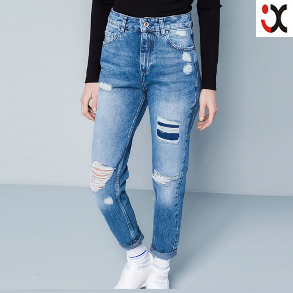 2015 New Boyfriend Style Ripped Cropped Baggy Jeans Womenjxh105 ...