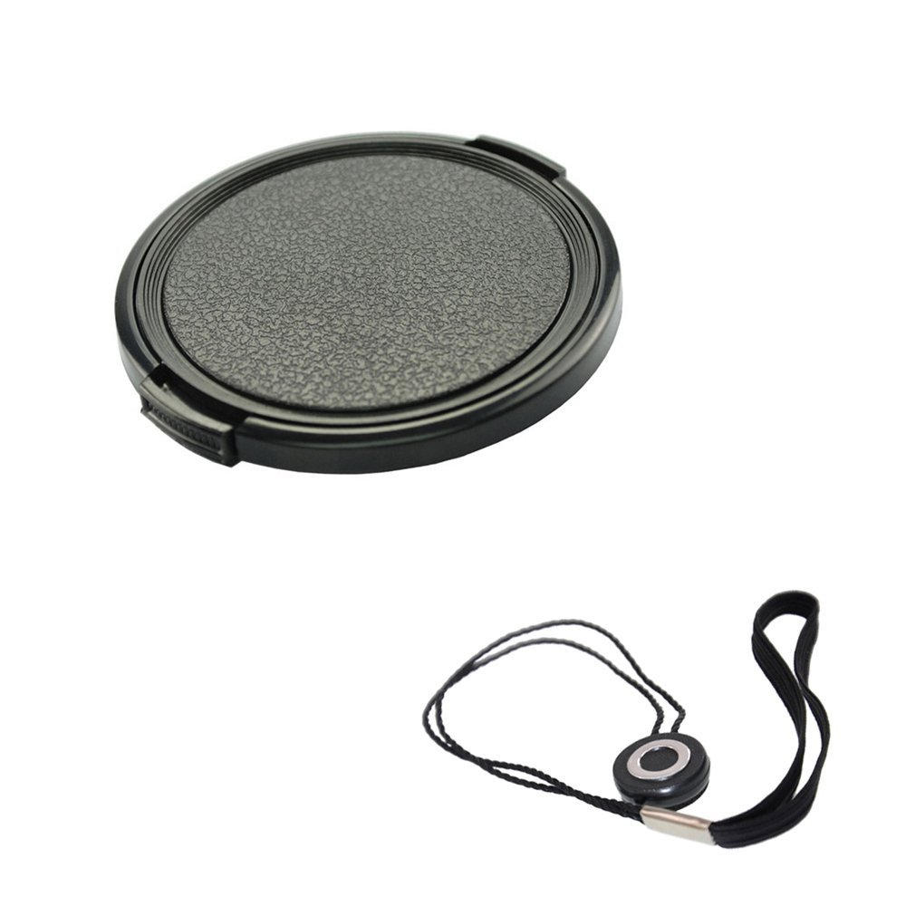 FoRapid 52mm Side-Pinch Snap-On Front Lens Cap/Cover with Lens Cap Holder Keeper for Canon Nikon Sony Olympus Pentax all DSLR Cameras