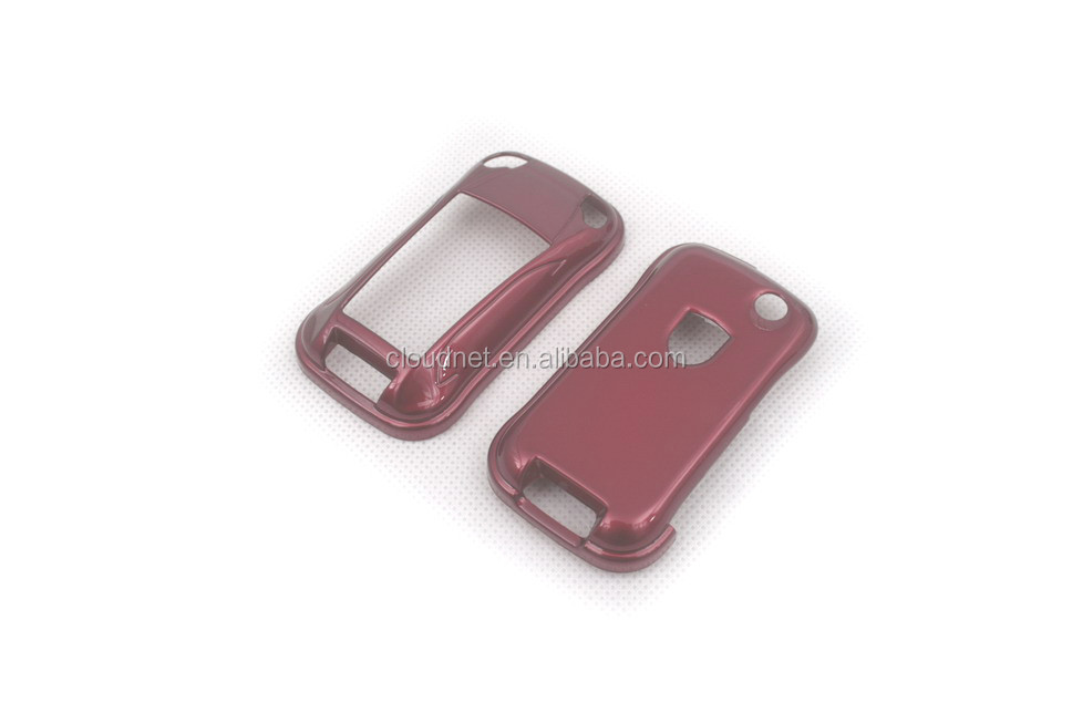 Gloss Red Color Hard Plastic Keyless Remote Key Fob Remote Flip Key Protection Case Cover For Porsche Cayenne Turbo S
