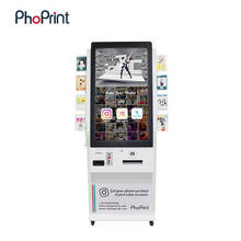 Phoprint Photo Booth Machine Floor Stand Digital Signage Lcd Display Advertising Machine