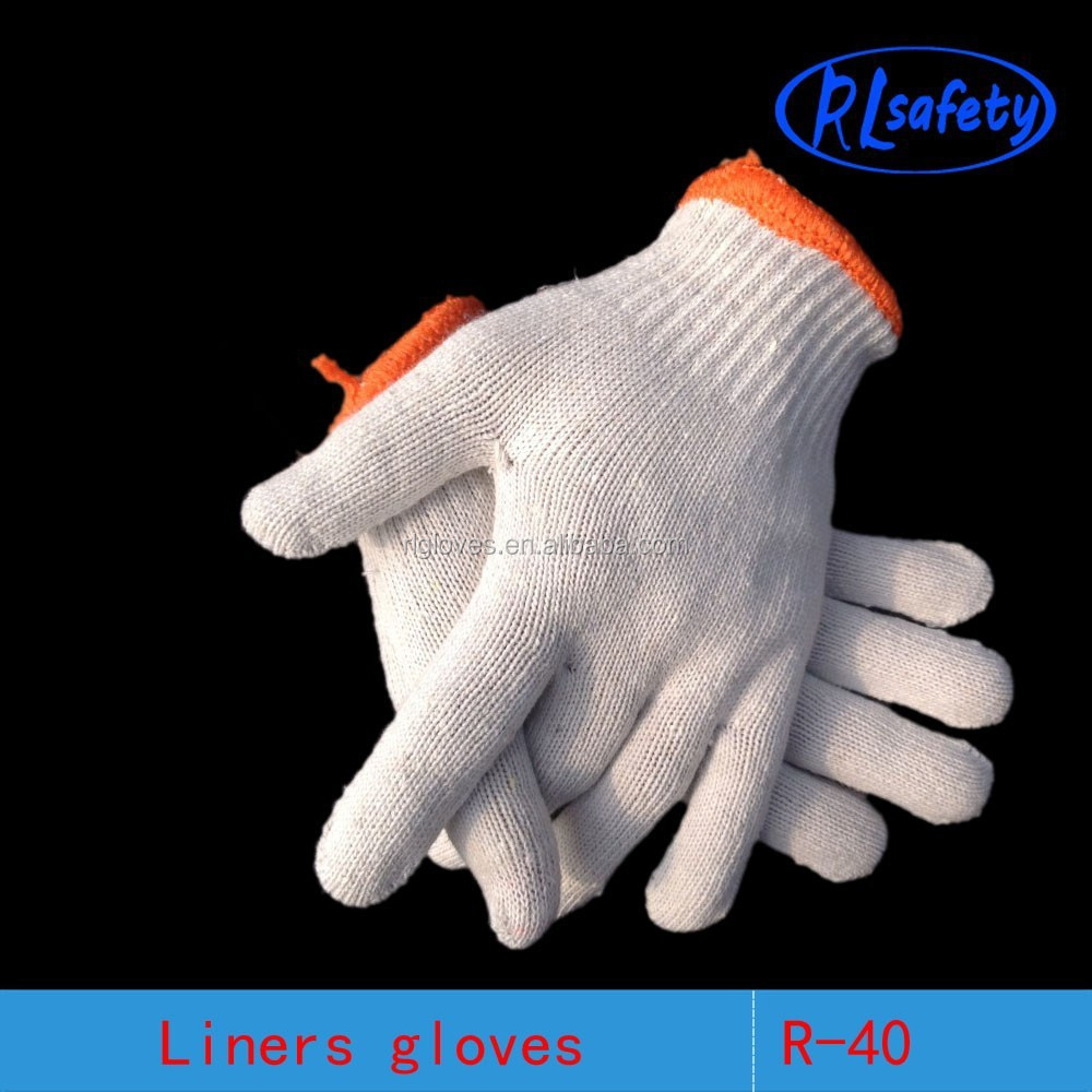 cotton string knit PVC Yiwu dotted glove