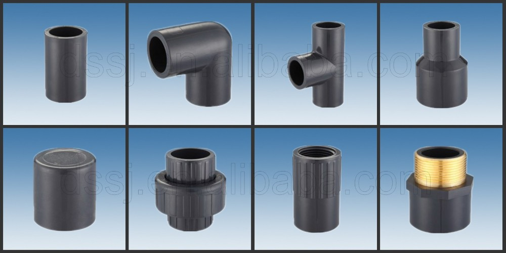 Plastic pipe fittings sch standard male thread elbow
