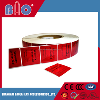 EAS Red RF Frozen Label