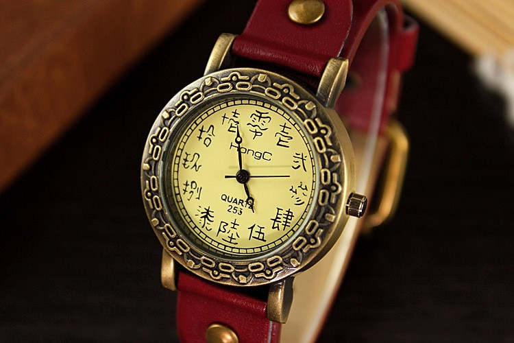 255 Unique Design China Special Oracle Dial Scale Design Fashion Luxury High Quality Hot China Factory Wristwatch Vintage Watch