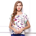 2016 New Arrived Fashion Women Casual Summer T shirt Animal Floral Print Europe Style Loose Plus