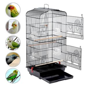 Pet Supplies Portable Large Iron Wire Macaw Breeding House Parrot Nest Bird Cage