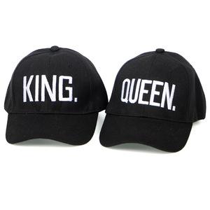 6491bbf8 KING QUEEN Baseball Cap Snapback Men Women Visor Caps dad Bone White Black  Couple Lover Hip