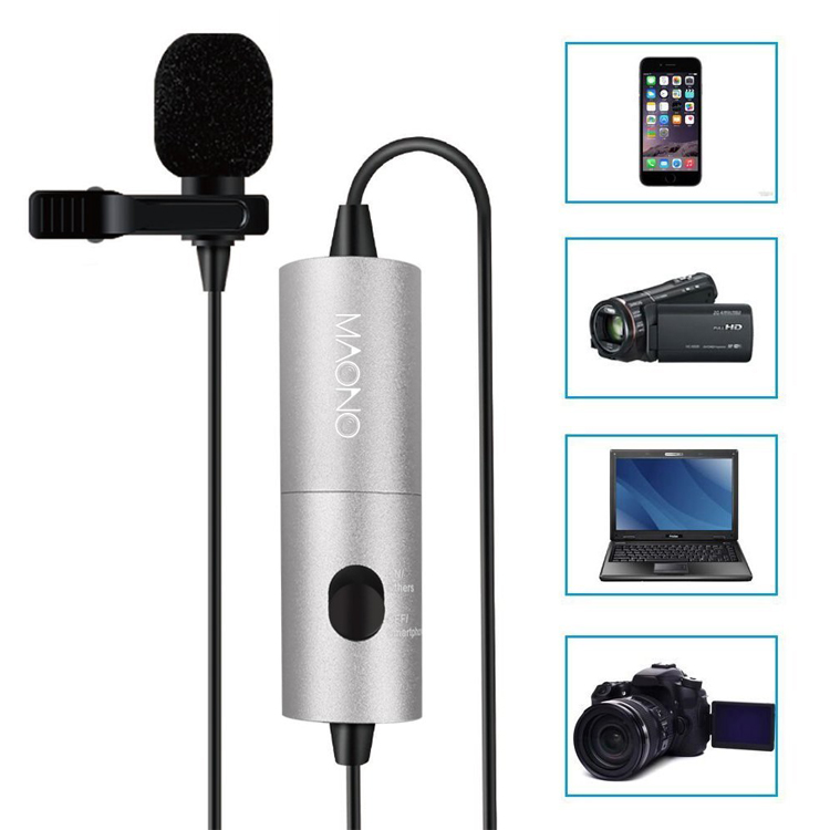 Good quality hidden camera Lavalier Lapel collar Microphone