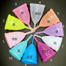 Portable foldable medical silicone menstrual cups