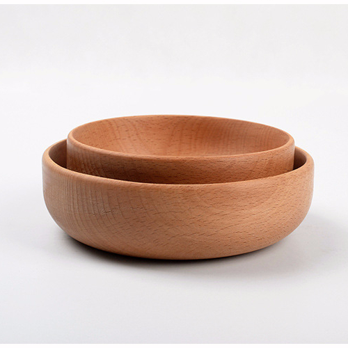 Japanese style beech wood bowl