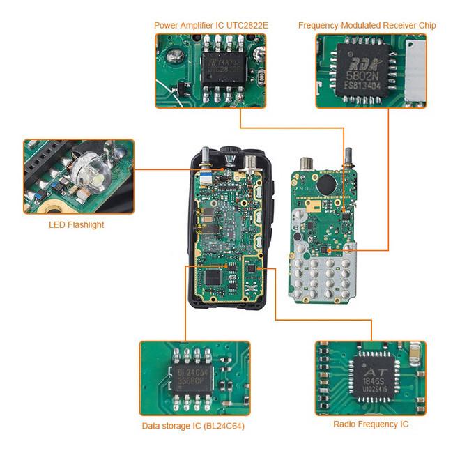 BAOFENG UV-5X Upgrade UV-5R UHF+VHF Dual Band/Dual Watch Two Way