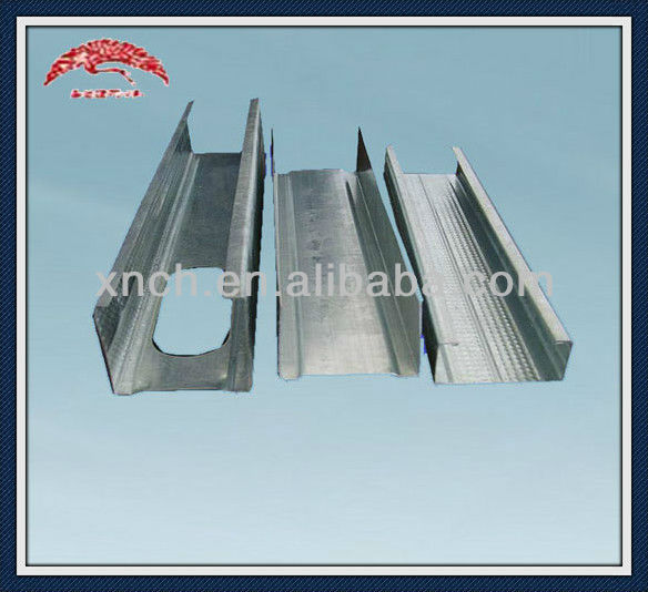 Metal stud track for pop dry wall design