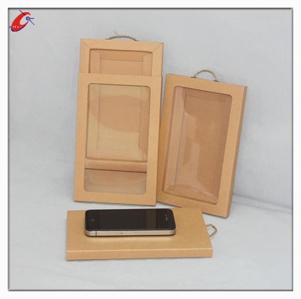 Good Sales!!kraft Pinstripe Boxes.kraft Paper Box With Pvc Window ...