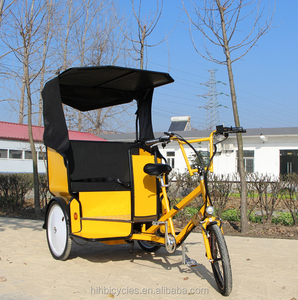 Cheap brand new passengers carrying rickshaw electric pedicab for bike taxi service on hot sale