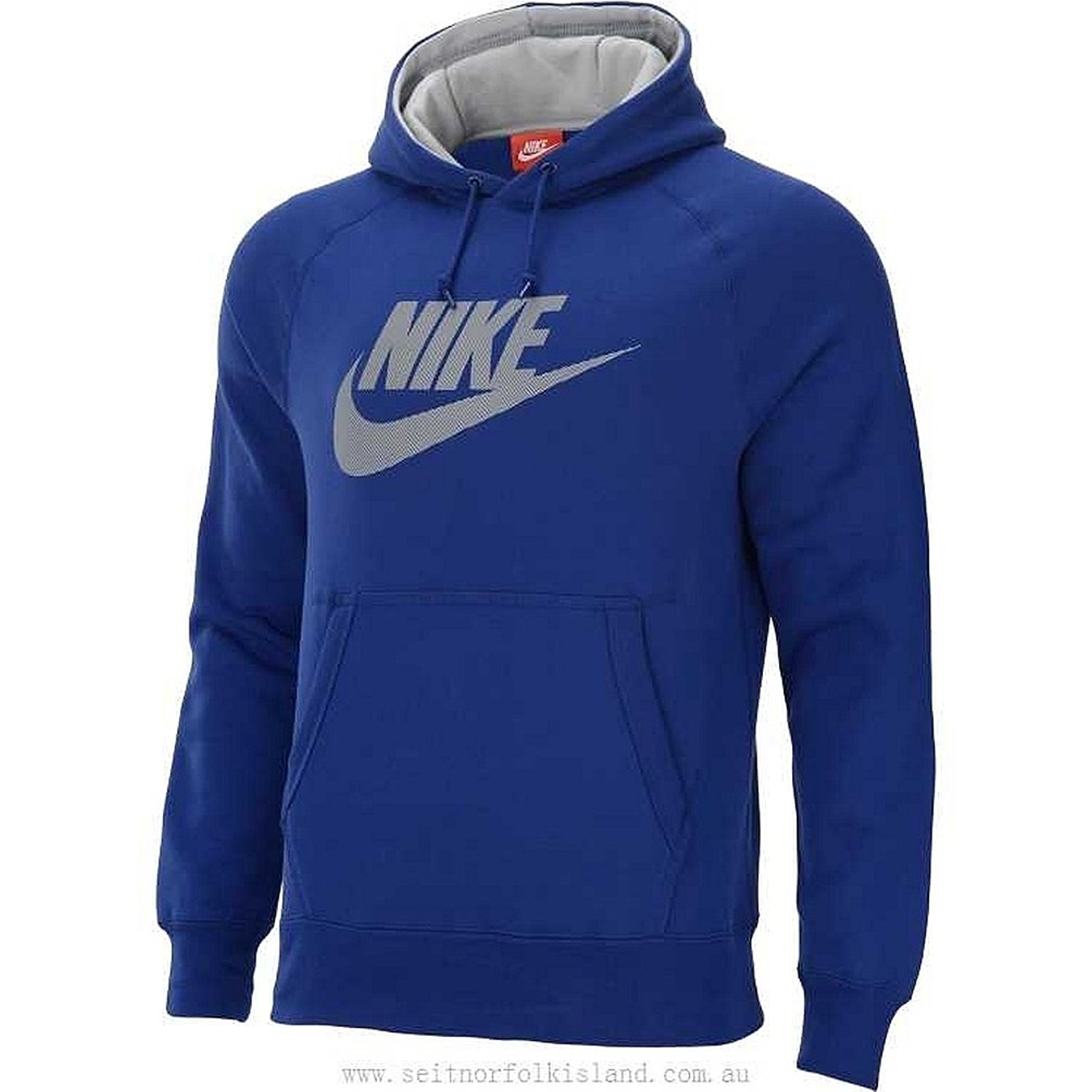 1faa09762449 Get Quotations · Nike Men s AW77 Futura Logo Fleece PO Hoodie Deep Royal  Blue - Medium