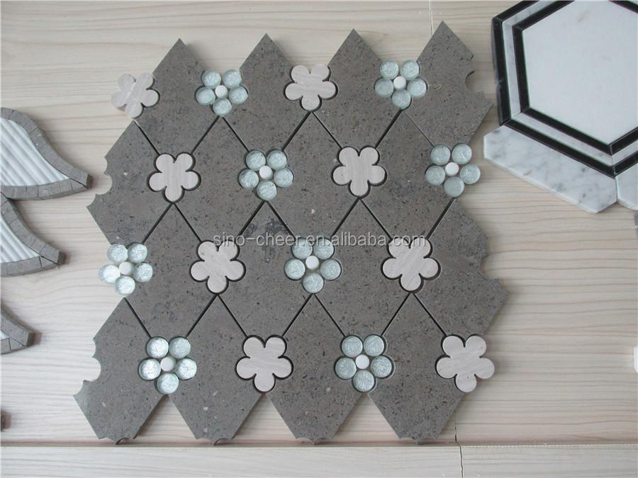 Wit marmeren kleine zeshoekige mozaïek tegel voor badkamer/keuken ...