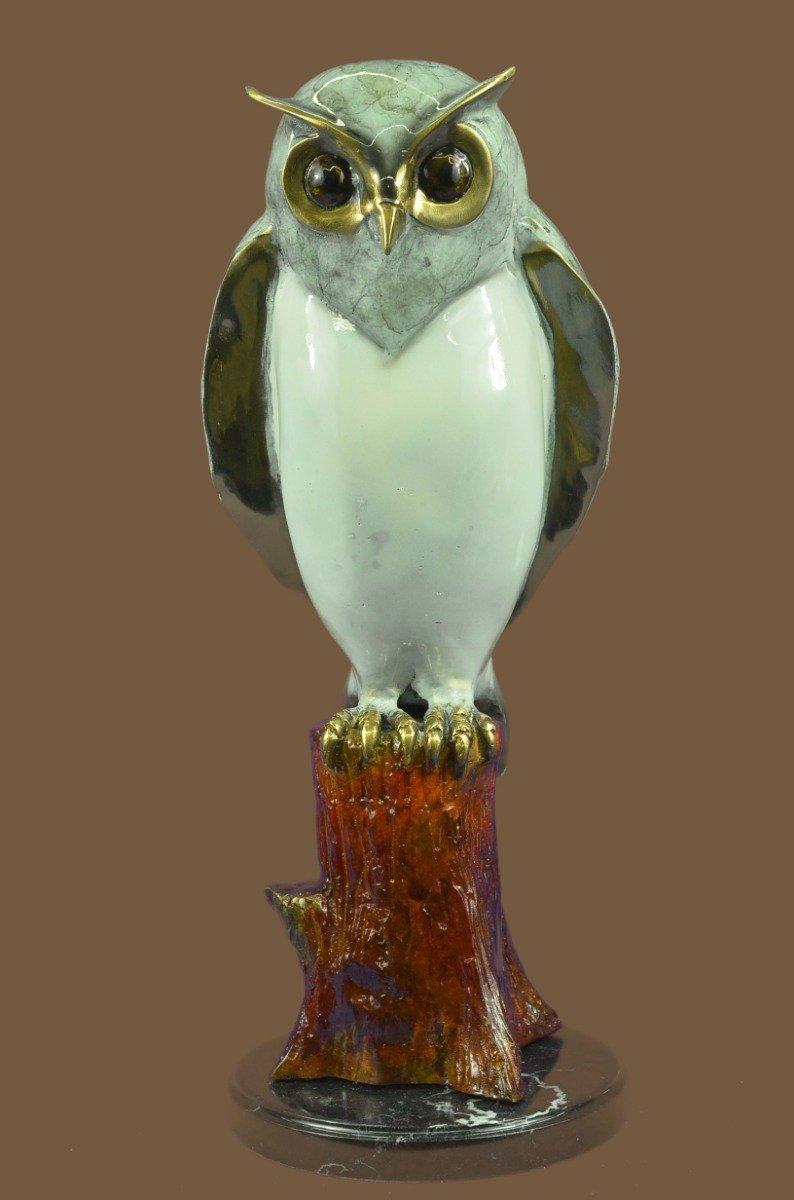 High Quality European Bronze Sculpture Limited Edition Original Marius Screech Owl .