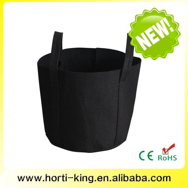 1-gallon Grow Bag with Strap Handles/1 Gallon Root Pouch Black Fabric Pot/Premium Breathable Nonwoven Fabric Pots