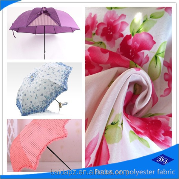 2015 hot-sell 300T flower pongee for 100% polyester fabric umbrella