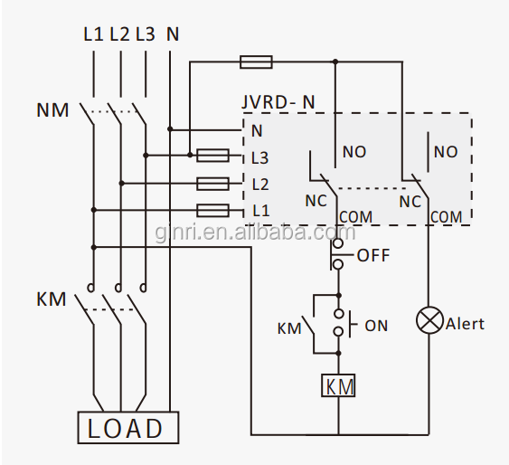 Jvrd-n Voltage Relay Neutral Loss Protection Relay 3phase 4 Wire Relay