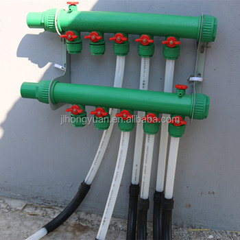 Ppr plastic manifold ppr pex pipe whole system for for Plastic water pipe pex
