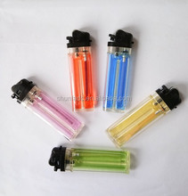 Factory Transparent Plastic disposable cigarette lighters with gas