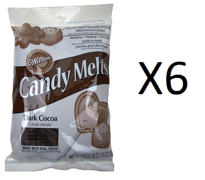 Bulk Buy: Wilton Candy Melts 12 Ounces Dark Cocoa (6-Pack)