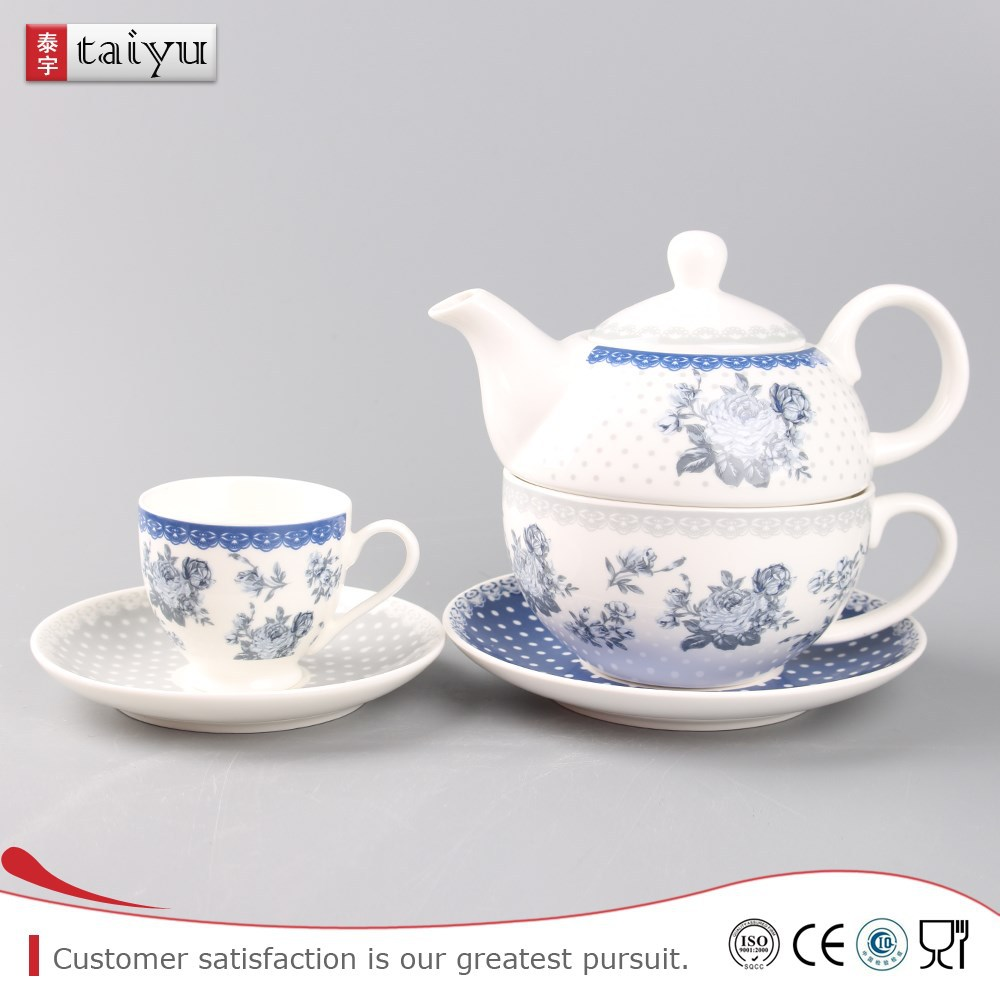 personal design direct sale porcelain tea set for one person,tea for one set