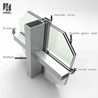 Chinese manufacturer exterior facade frameless aluminum glass curtain wall price