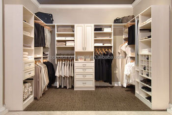 Customized bright white wardrobes bedroom closet design