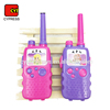 19CM Girl Pink Color Kids Plastic Interphone Toy Phone Walkie Talkie Toy