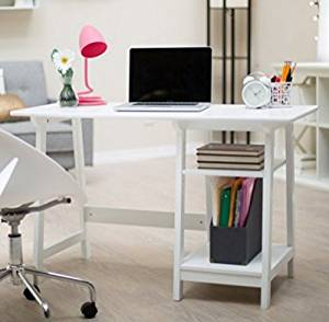 Get Quotations · Computer Desks For Home Office, Writing Desks, Rectangular  With 1 Adjustable Shelf, 1