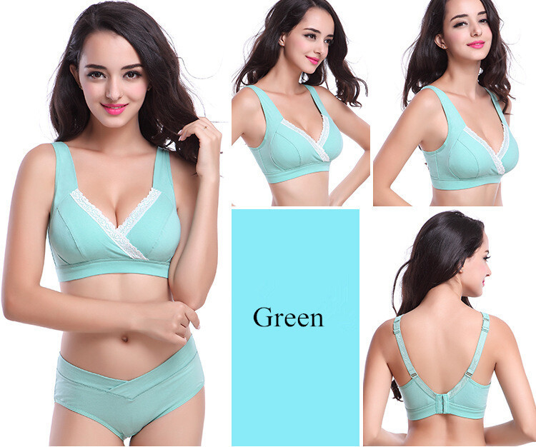100% cotton 3/4 Cup nursing bra wholesale AFT-A009