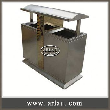 Arlau Garden Metal Furniture Set Recycling Can Manufacturer Stainless Steel Recycling Bin In