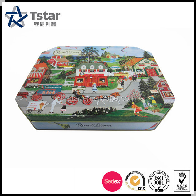 High quality biscuit/cookie/chocolate tin can packaging