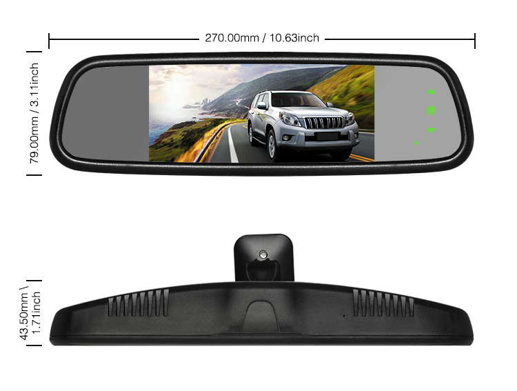 Hot sell auto-adjust brightness 7 inch rearview mirror monitor