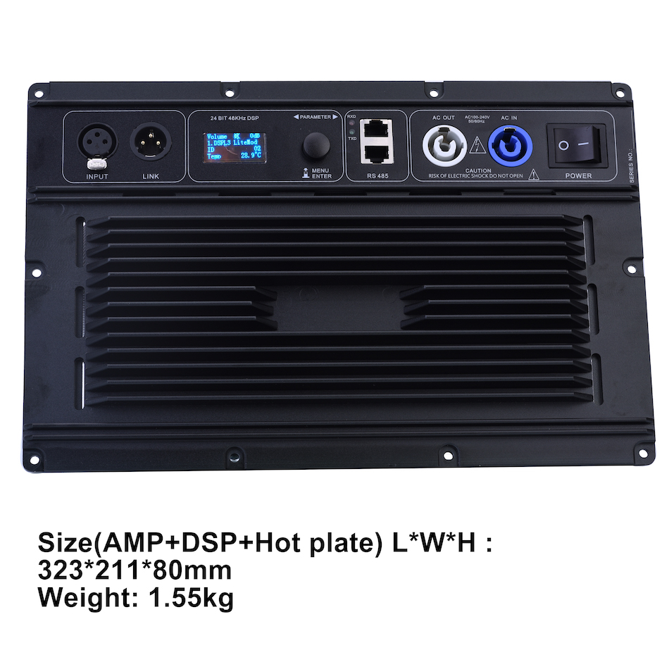 2 Channel 1100W@ 8ohm subwoofer Amplifier module plate DSP Class D amp module powered subwoofer Tulun Play AM3002