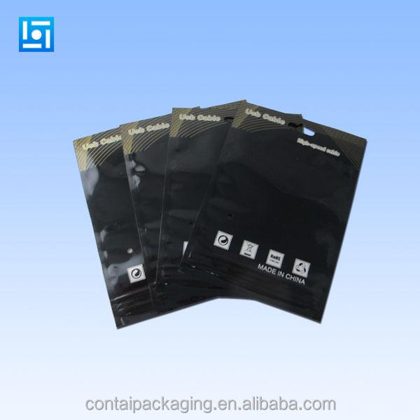 Printed Black Plastic Ldpe Hdpe Poly Ziplock Bag/ldpe ...