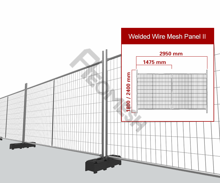 Made in Guangzhou Professional Factory America Temporary Fence