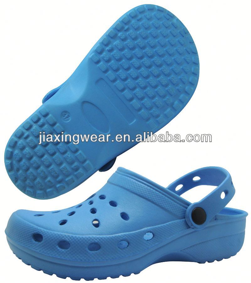 Injection kids white clogs for beach and promotion,light and comforatable